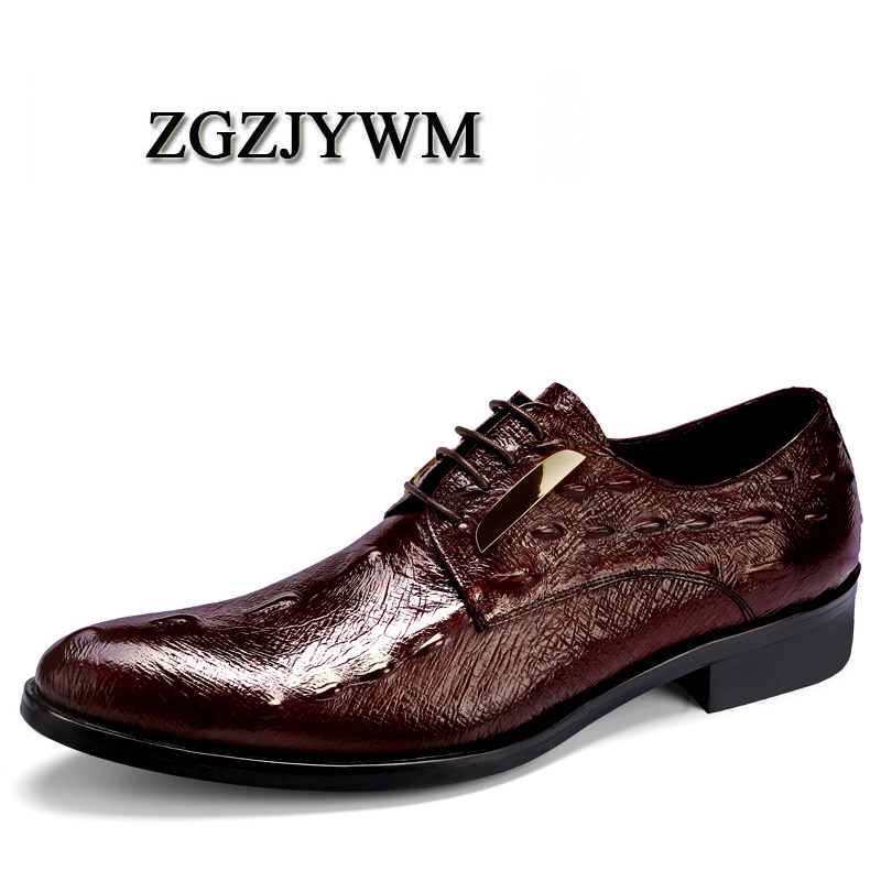 ZGZJYWM Spring/Autumn Black/Wine Red Oxfords Mens Dress Lace-Up Pointed Toe Genuine Leather Formal Business Solid Wedding ShoesZGZJYWM Spring/Autumn Black/Wine Red Oxfords Mens Dress Lace-Up Pointed Toe Genuine Leather Formal Business Solid Wedding Shoes