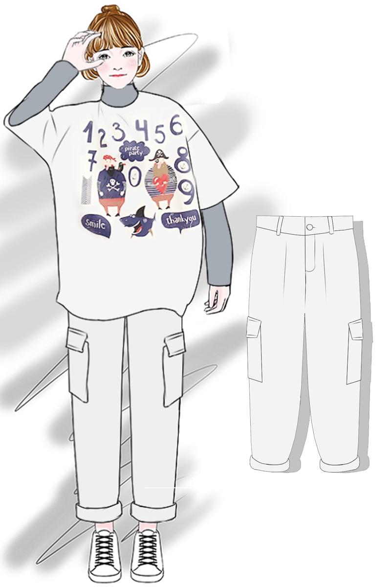 Cintura Moda Denim Ancha 2019 Alta Mujeres Marea Las Sueltos De white Primavera Nueva negro Creamy Pierna Femenina Pantalones Vaqueros vxRf5q