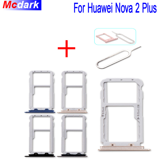 US $2 86 |For Huawei Nova 2 plus Sim Card Holder Tray Card Slot SD Card  Slot Holder Adapter Replacement With Take Sim Card Eject Tool-in SIM Card