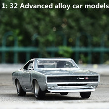 1: 32 advanced alloy car models,high simulation classic charger 1968 vehicles model,metal diecasts,toy vehicles,free shipping