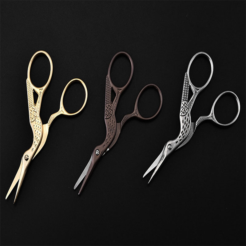 Crane Scissors Tailor Cutting Supplies Home Office School Utility Knife Daily Clippers Fabric Paper Retro Design Cutting Tools