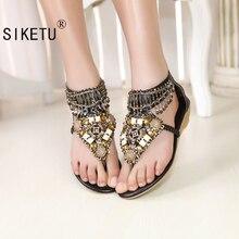 Weise envío libre 2356 características de estilo popular de bohemia sandalias de cuentas shoeswomen zapatos de verano tamaño 35-41