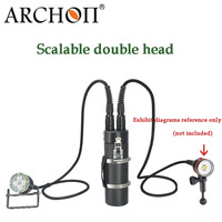 100% Original Archon DH160 WH166 Underwater Canister Photographing Light * XM L2 U2 LED*8 5500 lumens 150M underwater torch