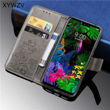 For LG G8 ThinQ Case Luxury PU leather Cover Flip Wallet Phone thinQ Card Holder Fundas