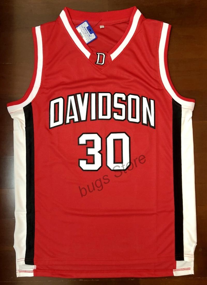 4ffb5efd85a EJ Steph Curry  30 Davidson College Wildcat Sewn Basketball Jersey ...