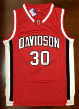 EJ Steph Curry #30 Davidson College Wildcat Sewn Basketball Jersey Red