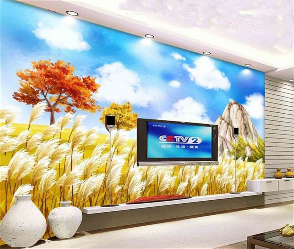 Careful Custom 3d Photo Wallpaper Room Mural Balloon Flower Landscape Hd Painting 3d Photo Sofa Tv Background Non-woven Wallpaper Mural Home Improvement
