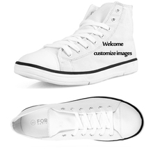 FORUDESIGNS Fashion Men Vulcanized Shoes Classic 3D Guitar High Top Canvas Shoes Breathable Teenagers Student Lace-up Flats Male