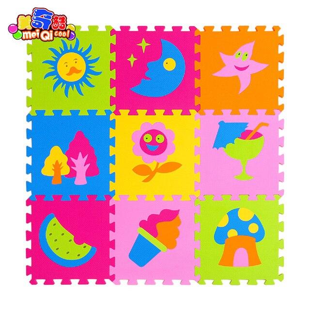 9 Pçs/set Crianças Jogando Mat Crianças Tapete Desenvolvimento Jogar Puzzle  Brinquedo Educação Brinquedo Do