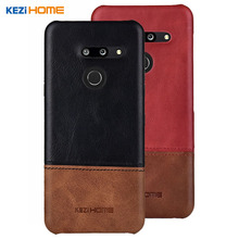 Case for LG G8 ThinQ KEZiHOME Luxury Hit Color Genuine Leather Hard Back Cover capa For LG G8 Phone cases