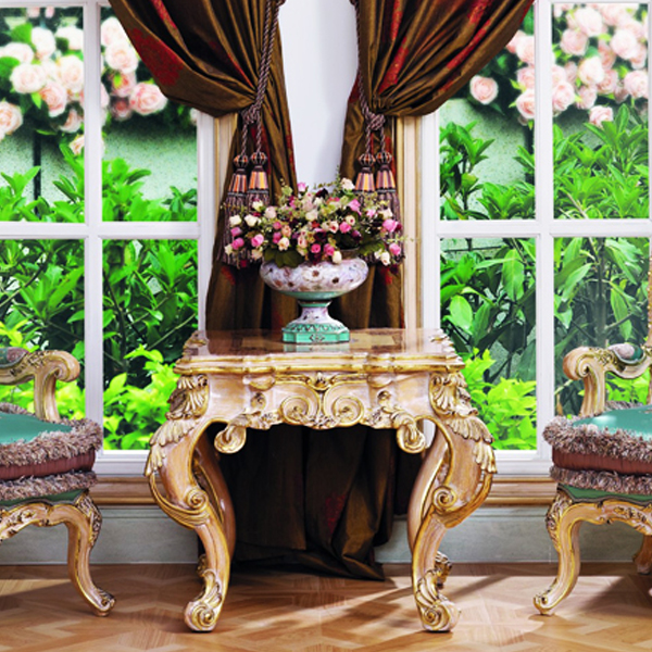european style floral woodcarving square coffee table living room furniture in coffee tables. Black Bedroom Furniture Sets. Home Design Ideas