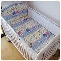 Promoção! 5 pcs 3d malha respirável bebê kit berço bedding bedding set pedaço cama de bebê em torno de berço, incluem (4 amortecedores + ficha)