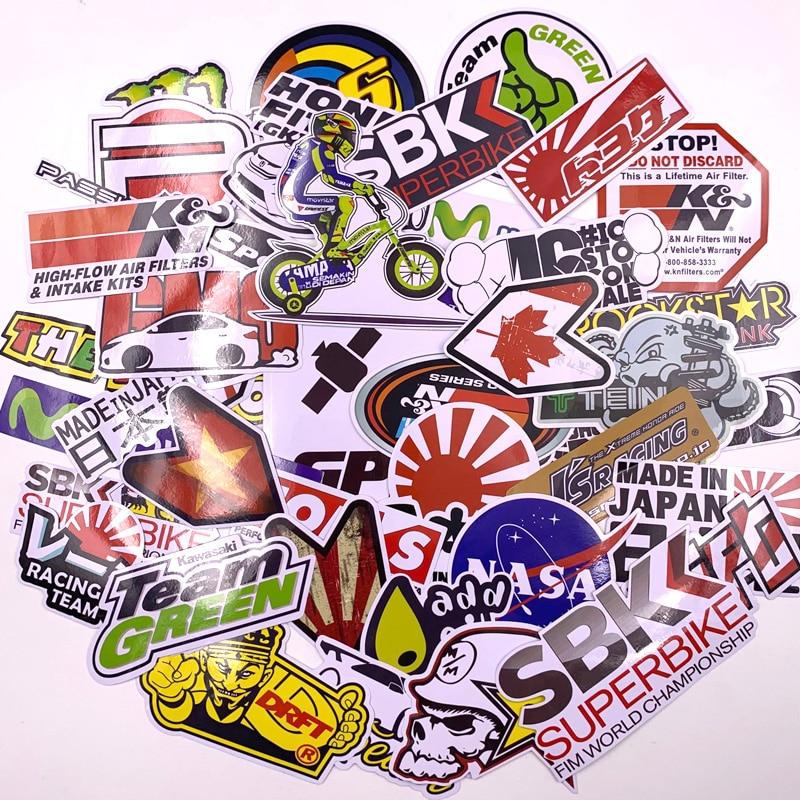 40Pcs Cartoon Car Stickers Motorcycle Decal for Helmet Luggage Skateboard Bicycle Mobile Phone Rossi JDM AKRAPOVIC YOSHIMURA 2
