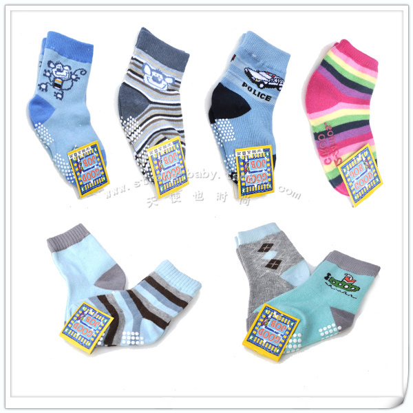 Baby socks cotton baby socks 100% glue slip-resistant function floor socks baby socks