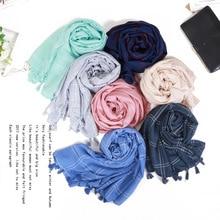 2018 New Winter Scarf For Women Tartan Scarf Women'S Plaid Blanket Scarf Basic Shawls Autumn Winter Warp