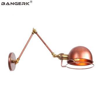 RH الصناعية خمر الشمعدان أضواء الجدار تركيبات طويلة الذراع وحدة إضاءة LED جداريّة مصباح لوفت تلسكوبي للطي ديكور المنزل مصابيح الإضاءة