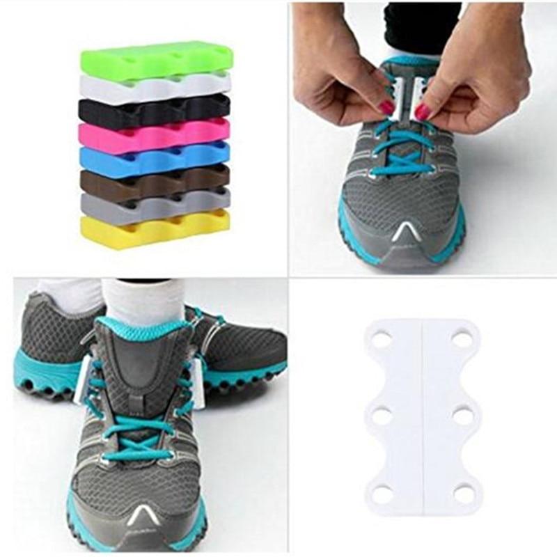 Sneakers Magnetic Shoe Buckles 1 Pair Casual Magnetic shoe laces Closure Shoelaces Buckles No-Tie Shoelace Buckles New