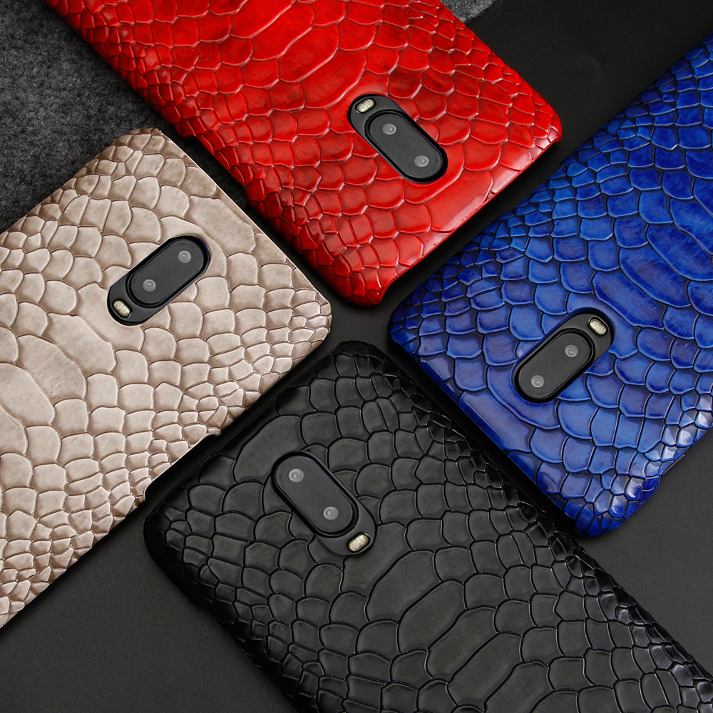 Luxury Snake Skin <font><b>Leather</b></font> Case for Oneplus <font><b>6t</b></font> 6 Original Slim Shockproof Hard Back <font><b>Cover</b></font> for <font><b>One</b></font> <font><b>Plus</b></font> <font><b>6t</b></font> 6 Oneplus6t Oneplus6 image
