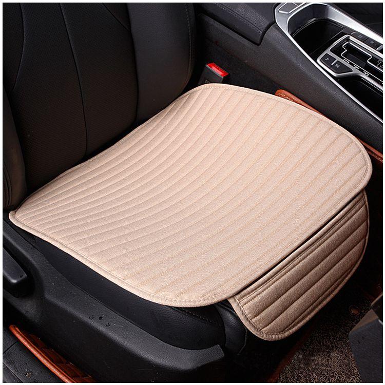 1 pcs crystal velvet striped car cushion no back to avoid tied four seasons pad 49 * 53CM beige