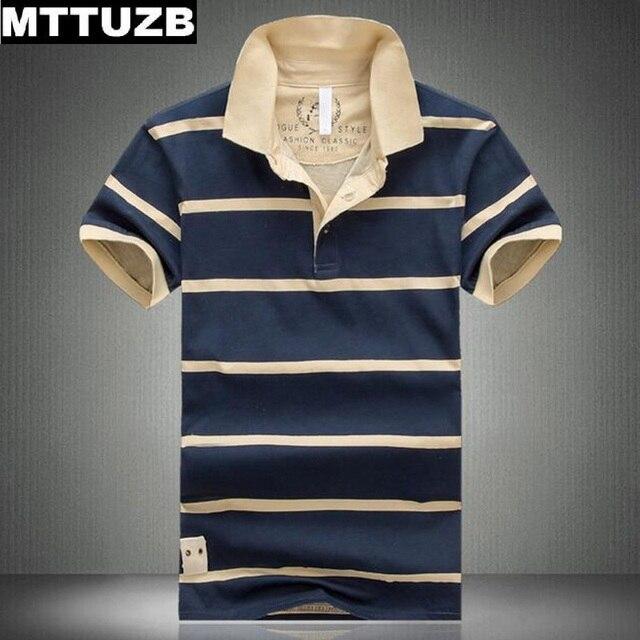 MTTUZB Высокое качество моды для мужчин летом с коротким рукавом футболки мужские вскользь уменьшают рубашки делового дресс мужской polo мужская рубашка полосы топы