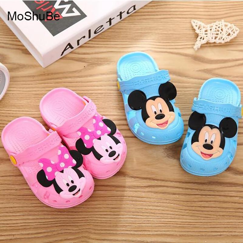 06122fc904b MoShuBe Baby Kids Girls Boys Paw Print Slippers Children Water Shoes Beach  Flip Flops for Kid Teenage ...