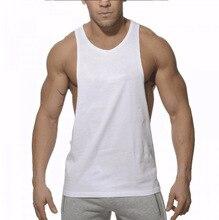 Hot!!males's Sports Vest Singlets Tank Tops Gym Tank Tops Low Cut Side Holes Racer-cut Back Vest Men' Gym Tank Tops