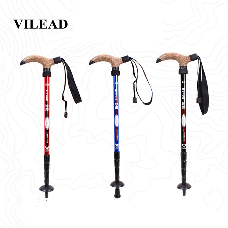 VILEAD Stable 50 110cm Walking Sticks 7075 Aluminum Nordic Portable Ultralight Outdoor Mountain Climbing Hiking Trekking Pole-in Walking Sticks from Sports & Entertainment
