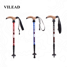 VILEAD Stable 50-110cm Walking Sticks 7075 Aluminum Nordic Portable Ultralight Outdoor Mountain Climbing Hiking Trekking Pole