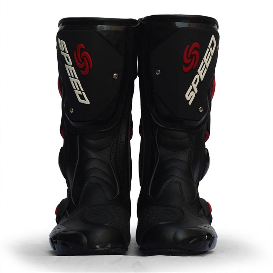 Bottes de moto en microfibre pour hommes bottes de Motocross pour course de vitesse Pro