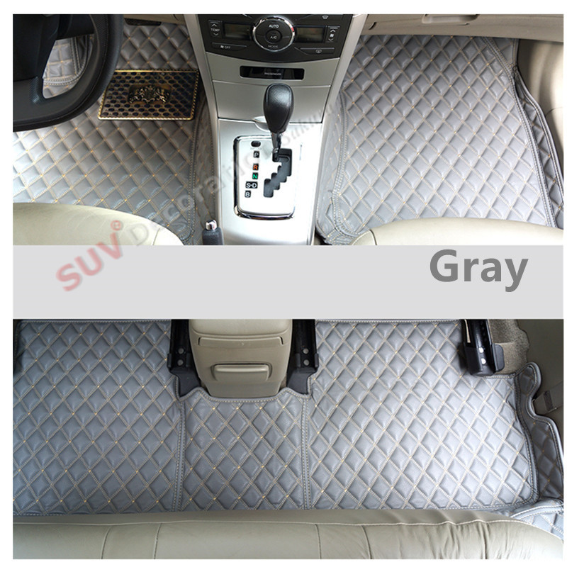 11-15  For BMW X1 E84 2011 2012 2013 2014 2015  Car-Styling !! Accessories Interior Leather Carpet Inner Car Foot Mat 1set car styling carpet photophobism dashboard protection pad mat for bmw 3 series f30 f31 2012 2013 2014 2015 2016 lhd car styling