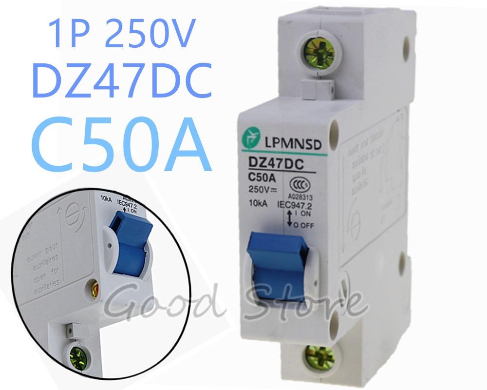 Heimwerker 1 P 50a 250 V Dz47 Dc Photovoltaik Solar Dc Circuit Breaker Luft Schalter 1 Pole C45 Ausreichende Versorgung Elektrische Ausrüstungen & Supplies