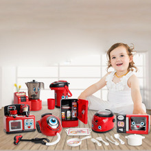 цены New Appliances Children's Puzzle Play House Kitchen Toys Multi-function Vacuum Cleaner Electric Iron Juice Machine Play Kitchen