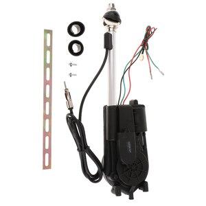 Image 5 - 1 セットステンレス鋼車のアンテナキットオートアンテナアクセサリー電力黒 12V サポート AM/FM ラジオ