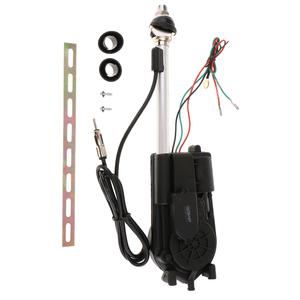 Image 5 - 1 Set Stainless Steel Car Antenna Kit Auto Antenna Accessories Electric Power Black 12V Support AM/FM Radio