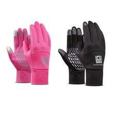 1 Pair Winter Gloves Diving Cloth  Anti-slip Motorcycle Touch Screen Gloves Finger Fleece Warm Gloves for Women Men