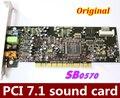 Оригинал и Использовались 1 ШТ./ЛОТ PCI7.1 звуковая карта Creative Audigy SE 64-бит (SB0570) поддержка Win7 win8 Лучше, чем SB0410!
