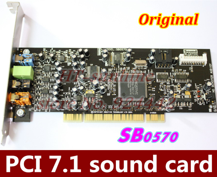 Original & Used 1PCS/LOT PCI7.1 sound card Creative Audigy SE 64-bit (SB0570) support for Win7 win8 Better than SB0410!