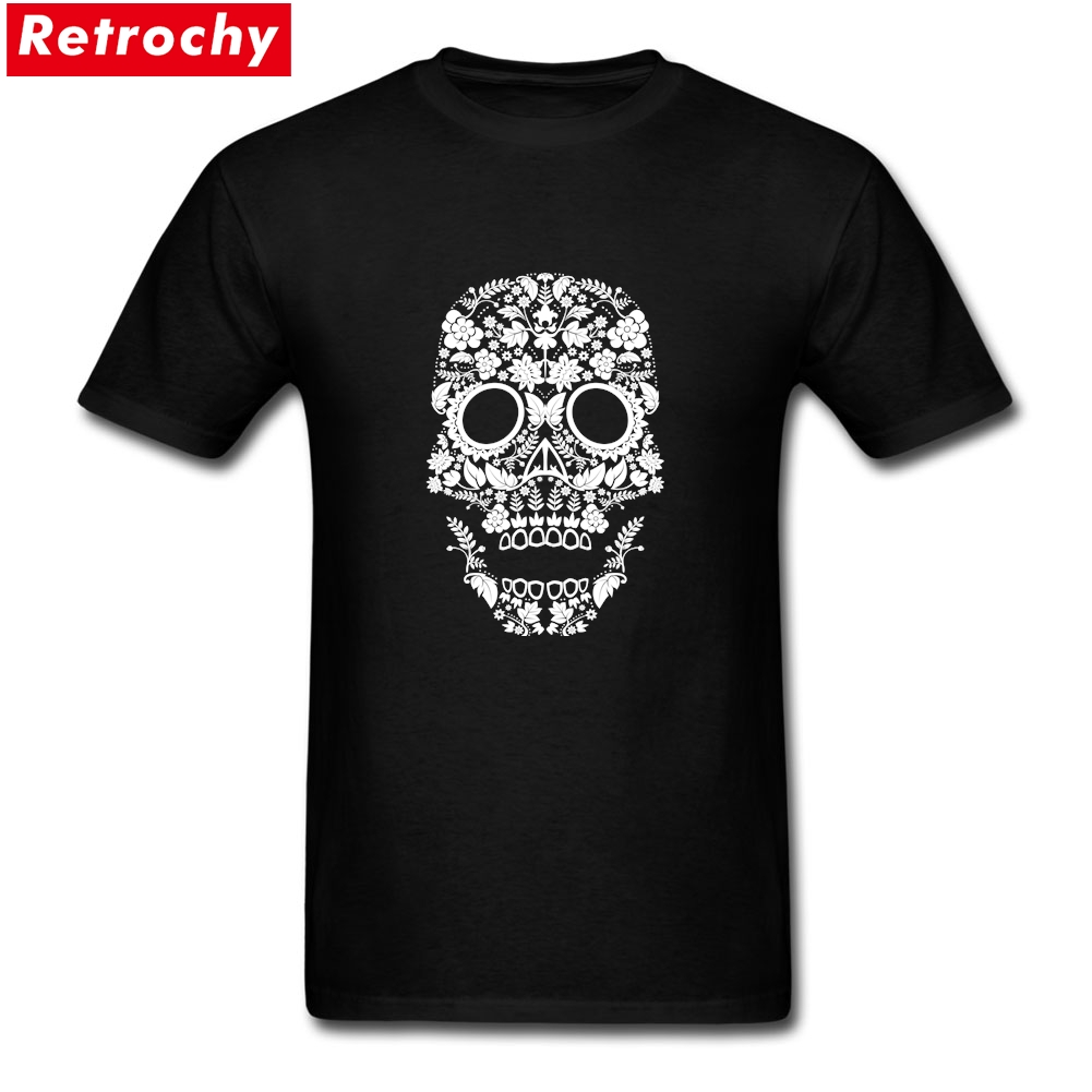 Day of the Dead Skull No11 Merchandise T-Shirt Short Sleeve Men personalised t shirts 100% Cotton Plus Size Tees