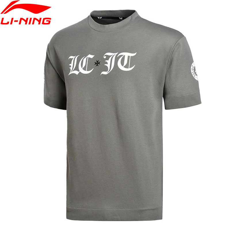 Li-Ning Men The Trend Knit T-Shirt 100% Cotton Loose Fit Printing Breathable LiNing Comfort Sports Tee Tops AWDN003 MTS2741