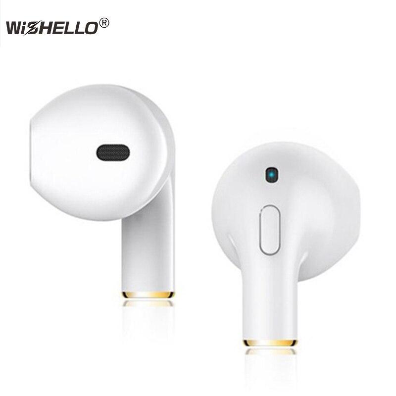 WiSHELLO Mini-I8X Auricolari Mini Bluetooth Senza Fili DER Stereo Sport auricolare Per iPhone X 8 8 plus Nota8 per tutti Smartphone