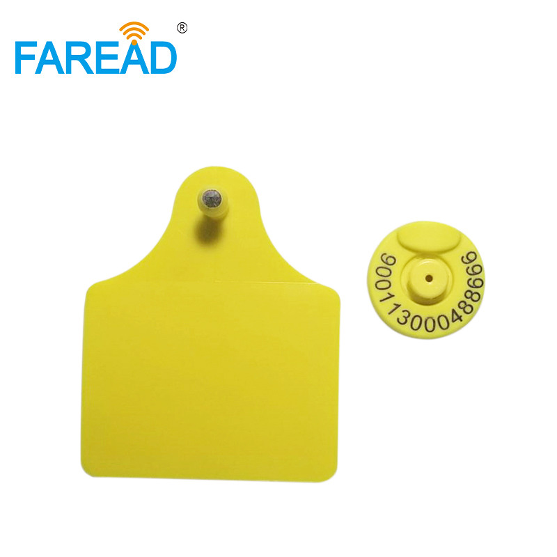 Best Quality X100pairs Livestock ID  FDX-B Low Frequency Animal RFID Ear Tag, Sheep Cow Pigfor Animal Identification Visual Tag