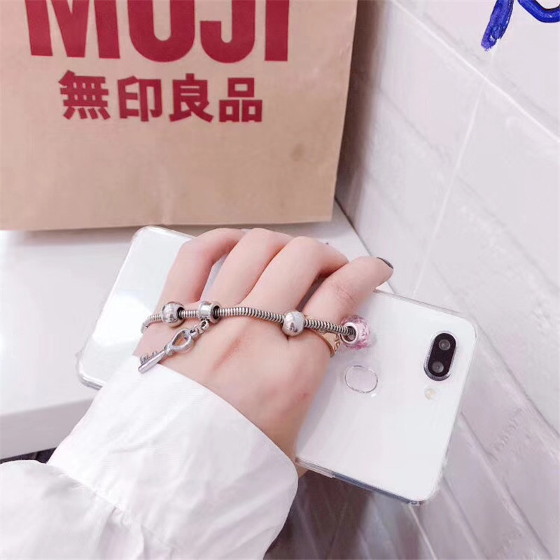 Fashion Chain Glossy Phone Cases For iPhone X 10 Transparent Soft TPU Case Cover For iPhone 7 8 6 6s Plus 8 plus Shell Housing