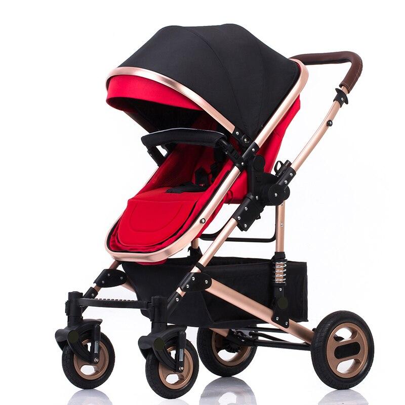 kinderwagen draagbare opvouwbare tweewegs schokdempers kinderwagen - Activiteit en uitrusting voor kinderen - Foto 2