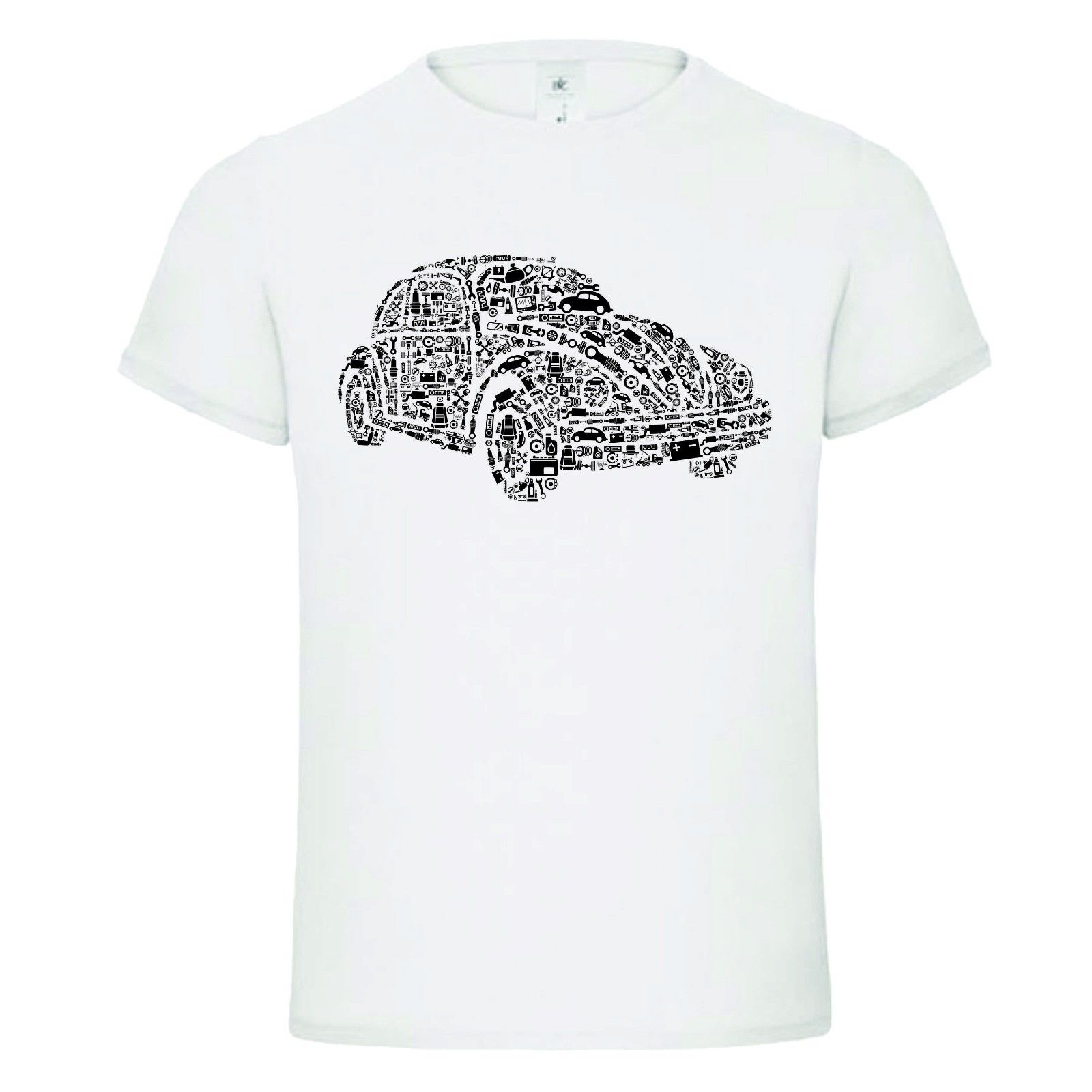 Fashion 100% Cotton Hot Sale Summer Classic Beetle Bug German Car Parts Shapes Funny T-shirt TEE Birthday Gift Dtg Tee Shirt