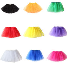 Baby Girls Kids Clothes Solid Colors Tutu Skirt Princess Girl Party Tutus Tulle Pettiskirt Children Ballet Dance Skirts(China)