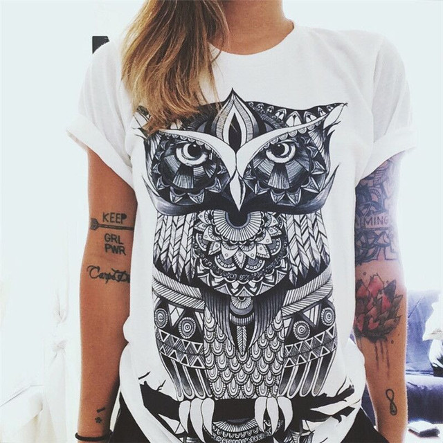 Hot Selling  Print Pattern T- Shirts for Women