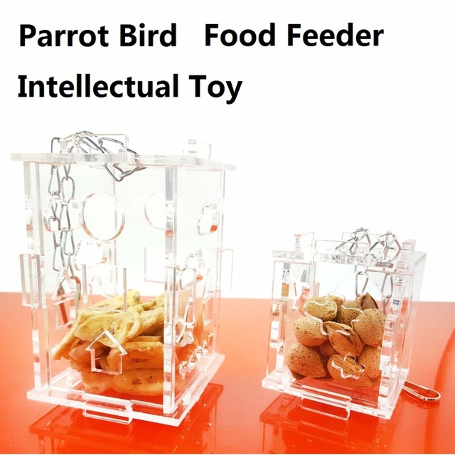 Parrot Bird Toy Hang Foraging Pet Treat Hunt Macaw Cockatoo Budgie Bird Food Feeder Bird Cage Decoration Intellectual Parrot Toy