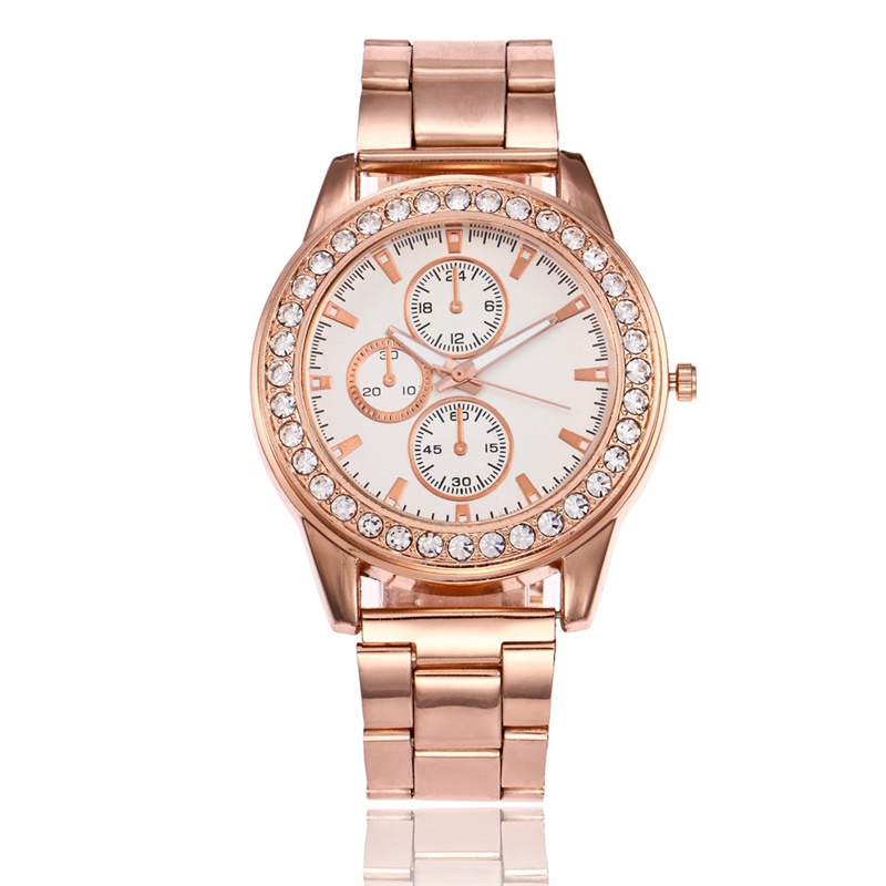 2019 New Ladies Watch Stainless Steel Exquisite Rhinestone Luxury Casual Quartz Relojes Mujer