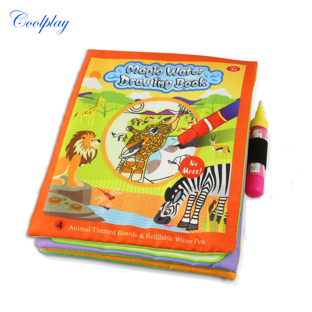Magic Water Drawing Book Pen Coloring Painting Board Animals Marine Life Theme Toy In Toys From Hobbies On