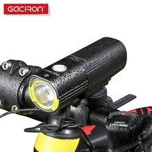 GACIRON دراجة دراجة العلوي مقاوم للماء 1000 لومينز الجبلية الدراجات ضوء فلاش الجبهة LED الشعلة جهاز باور بانك خفيف الدراجة اكسسوارات